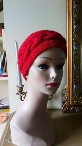 Bandeau serre tête chauffe oreille tricoté main