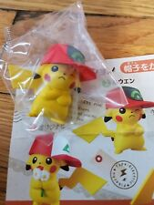 Pokémon Center Gashapon Pikachu wearing Ash's hat mini figure winking