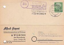 Landpoststempel    Wierthe über Braunschweig   1957