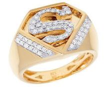 Super Men 14K Yellow Gold Finish Round Sim Diamond Wedding Ring