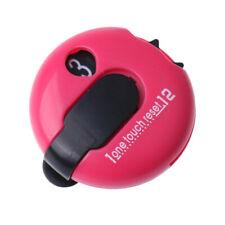 Portable Golf Score Counter Scorer Tool One Touch Reset - Dark Pink