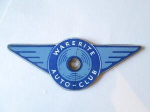 Warerite auto-club car badge.Motor club badge. grill badge. car badge.