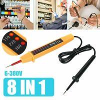 8 In 1 AC/DC 6-380V Car Voltage Test Pen Polarity Current Tester Detector