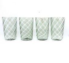 Bicchieri vetro di Murano set 4 pezzi color grigio idea regalo da fornace