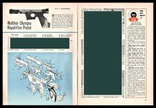 1965 Walther Olympia Rapid-Fire Pistol Exploded View Parts List Assembly Article