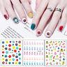 3D Nail Stickers Flower Fruits Nails Decal Sheets Nail Art Decorations Tips DIY