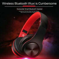 Wireless Bluetooth Headphones Foldable Stereo Earphones Super Bass Headset Mic L
