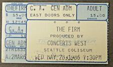 1986 The Firm Seattle Center Washington rock concert ticket