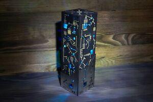 Cyberpunk Metal-Look Night Lamp -Handmade Sci-fi Punk Microscheme Electric Style