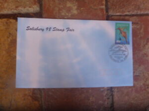 SALISBURY PHIL OFFICIAL OVERPRINTED STAMP SHOW POSTMARK COVER 1998 DOLPHINS