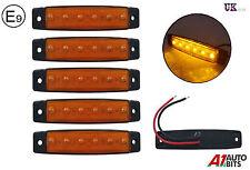 5x 12v 6 LED Amarillo Delantero Lateral Marcador luces para remolque camión