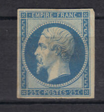 NAPOLEON EMPIRE N°15  25 cts  bleu NEUF BDF petite charniere 1853++++1600€ STAMP