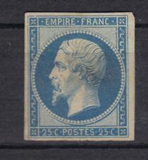 FRANCE NAPOLEON  N°15  25 cts  bleu NEUF BDF petite charniere 1853+1600€