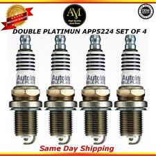 Double Platinum Spark Plugs APP5224 Set of 4 For 11/15 Jeep Honda Dodge 3.7L