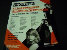 TAYLOR SWIFT Ed Sheeran SAM SMITH others PROMO POSTER AD from 2015 mint cond