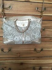 BE&D gold laser cut Satchel Cross Body Bag gorgeous!! $550 Large