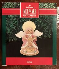 Sister - Angel with a Star from 1991 - Hallmark Keepsake Ornament