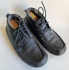 UGG Lyle Leather Sheepskin UGG 1003430 Black Genuine Slipper US13
