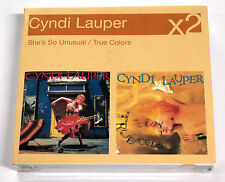 Cindy Lauper X2 SHE'S SO UNUSUAL + TRUE COLORS 2000 Sony CD SIGILLATO RARO