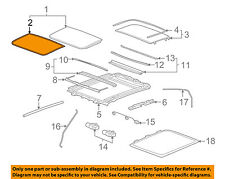 Cadillac GM OEM 08-14 CTS Sunroof-Front Seal 23142058