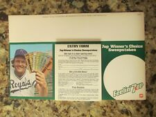 1981 7-up Winner's Choice Sweepstakes Entry Form Display- George Brett KC Royals