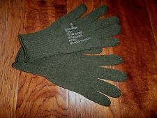 U.S MILITARY STYLE D3A COLD WEATHER GLOVE LINERS 85% WOOL 15% NYLON SIZE LARGE
