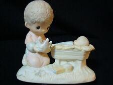 New ListingPrecious Moments-Nativity Boy w/Crown-Manger/Baby Jesus-No Mark