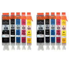 10 Printer Ink Cartridges (5 Set) for Canon MG5753 MG6853 TS5050 TS6051 TS8053