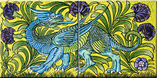 Decorative Tile Ceramic mural  reproduction design by William de Morgan #5