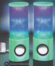 Mint Green LED Dancing Light Up Music Speaker for Smartphones Tablets Computers