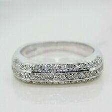 18ct White Gold 0.50ct Diamond Pave Gypsy/Cluster Ring (Size L)
