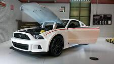 Ford Mustang 2014 GT Blanc Coureur De Rue 1:24 à l'échelle miniature Super