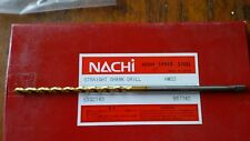 4.0mm  x150mm x75. NACHI TiN coated HSS CO Long Precision Drills. Tang shank