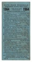 1964 Wisconsin State Fair auto race schedule, car racing history, stock cars
