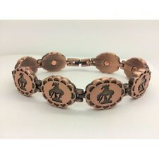 Magnetic Bracelet with END OF THE TRAIL  COPPER FINISH ,  NEW  8 INCHES 5341