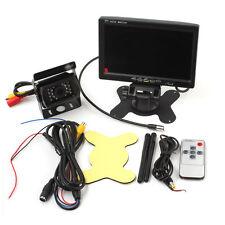 "7 "" LCD TFT Auto Car Monitor Telecamera Posteriore Rearview Backup INVERSA IR"