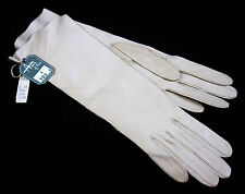 Gloves Vintage Aris of Paris Real Kid Leather Cream Made in France Size 6 & Tags