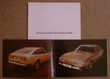 Rover 3500 SD1 1976-77 Original UK Sales Brochure Pub. No. 3207/A dated 4/76