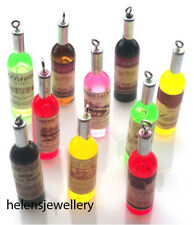10 RESIN WINE BOTTLE CHARMS - ABSOLUTELY GORGEOUS - FAST SHIPPING