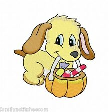 Halloween Puppies 10 Embroidery Designs 4x4 on multi-formatted Cd