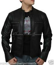 Fast And Furious Men Black Top Grain Genuine Leather Movie Jacket