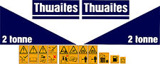 THWAITES 2 TONNE KIPPER-AUFKLEBER-AUFKLEBER-SATZ