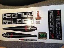 "RALEIGH ""Record SPRINT"" decal set. Silver/black. Incl 501. New stock!"