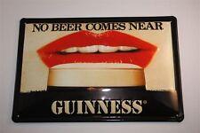 """3D Blechschild Guinness Bier 20x30 cm """" LIPPEN AM GLAS PINT """" Irland Tin Sign"""