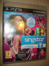 PS3 PLAYSTATION 3 SINGSTAR + DANCE INCLUDE MOVE ITALIANO