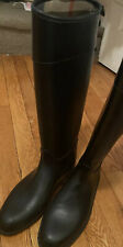 Burberry Roscot Waterproof Riding Rain Boots Black Eur 37 / US 7 *Belt Missing*