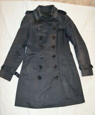 Burberry Prorsum Navy Double Breasted Button Up Jacket Peacoat Womens IT40 UK8