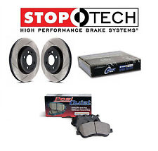 Lancer EVO X 08-15 Set of Front StopTech Slotted Brake Rotors and Ceramic Pads