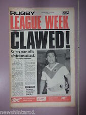 #T107. RUGBY LEAGUE WEEK NEWSPAPER 9/8 1975, CANTERBURY & ROOSTERS CENTRE