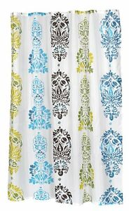 "Carnation Home Fashions ""Olivia"" extra long fabric shower curtain CAR-FSCXL-OLI"